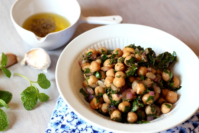 Chickpea Salad with Cumin Vinaigrette | Ilke's Kitchen